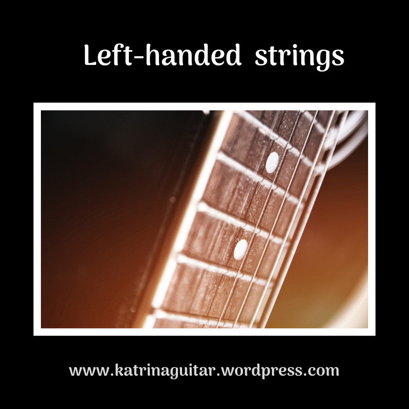 Re-string a guitar to a left-handed setting