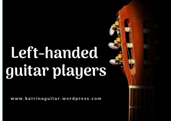 Left-handed guitar player