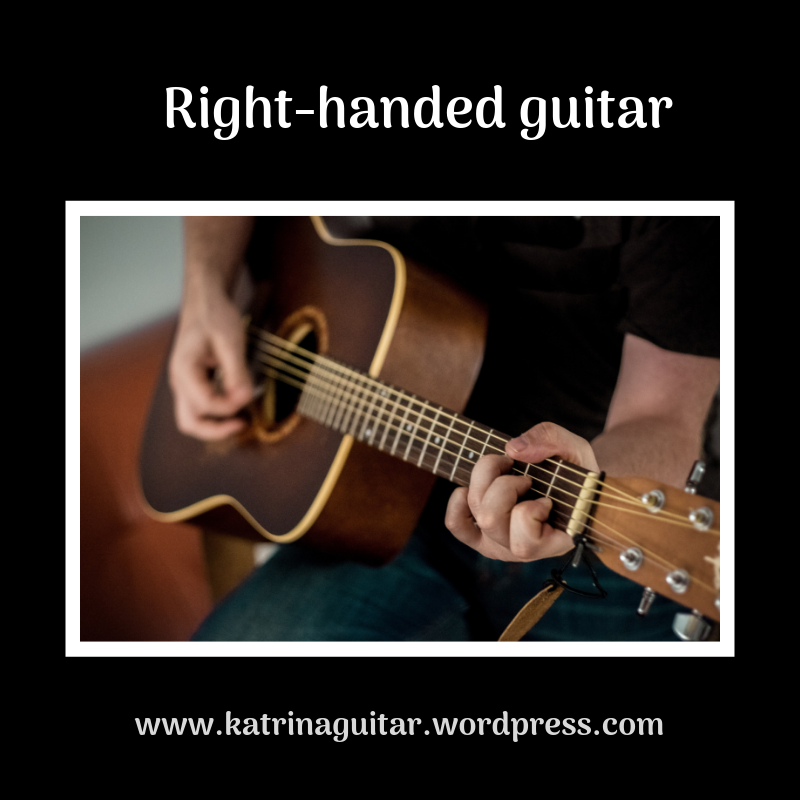 Right handed guitar playing a c chord